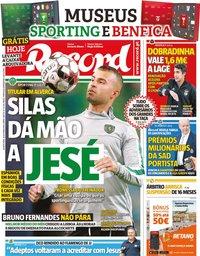 capa Jornal Record de 16 outubro 2019