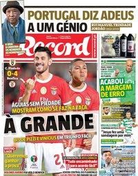 capa Jornal Record de 19 outubro 2019