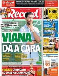 capa Jornal Record de 20 outubro 2019