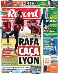 capa Jornal Record de 23 outubro 2019