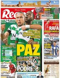 capa Jornal Record de 25 outubro 2019