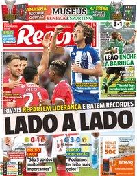 capa Jornal Record de 28 outubro 2019