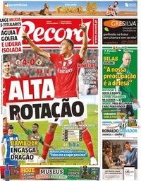 capa Jornal Record de 31 outubro 2019