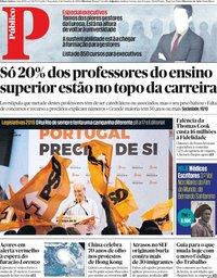 capa Público de 1 outubro 2019