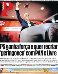 capa Público de 7 outubro 2019