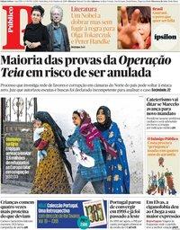 capa Público de 11 outubro 2019
