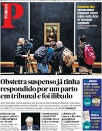 capa Público de 23 outubro 2019