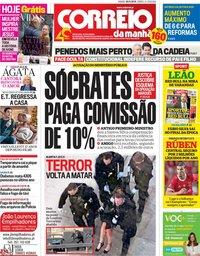 capa Correio da Manhã de 30 novembro 2019
