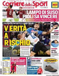 capa Corriere dello Sport de 1 novembro 2019