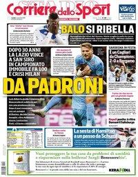 capa Corriere dello Sport de 4 novembro 2019