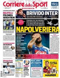 capa Corriere dello Sport de 5 novembro 2019