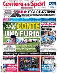 capa Corriere dello Sport de 6 novembro 2019