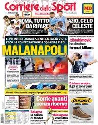 capa Corriere dello Sport de 8 novembro 2019