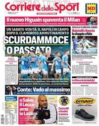 capa Corriere dello Sport de 9 novembro 2019