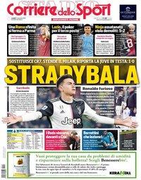 capa Corriere dello Sport de 11 novembro 2019