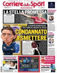 capa Corriere dello Sport de 13 novembro 2019