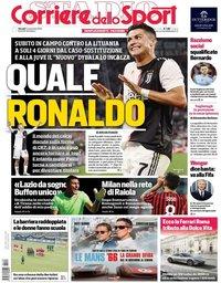 capa Corriere dello Sport de 14 novembro 2019