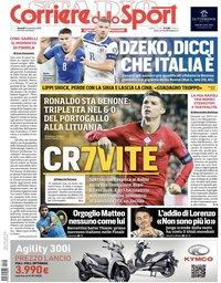 capa Corriere dello Sport de 15 novembro 2019