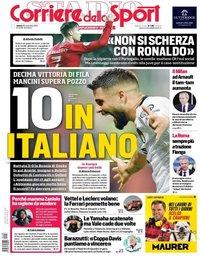 capa Corriere dello Sport de 16 novembro 2019
