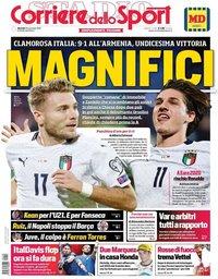 capa Corriere dello Sport de 19 novembro 2019