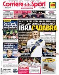 capa Corriere dello Sport de 20 novembro 2019