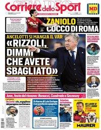 capa Corriere dello Sport de 21 novembro 2019