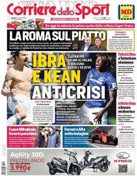 capa Corriere dello Sport de 22 novembro 2019