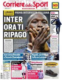capa Corriere dello Sport de 23 novembro 2019