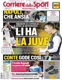 capa Corriere dello Sport de 24 novembro 2019
