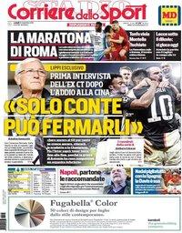 capa Corriere dello Sport de 25 novembro 2019