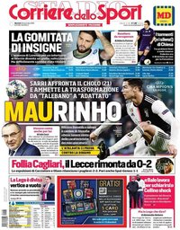 capa Corriere dello Sport de 26 novembro 2019