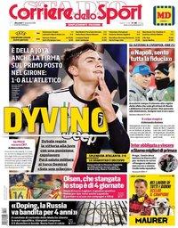 capa Corriere dello Sport de 27 novembro 2019