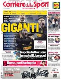 capa Corriere dello Sport de 28 novembro 2019