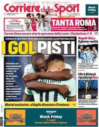 capa Corriere dello Sport de 29 novembro 2019
