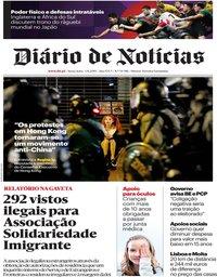 capa Diário de Notícias de 1 novembro 2019