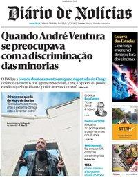capa Diário de Notícias de 2 novembro 2019