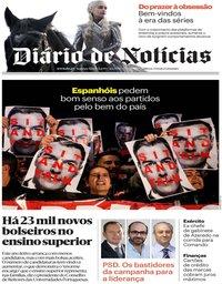 capa Diário de Notícias de 4 novembro 2019