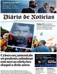 capa Diário de Notícias de 5 novembro 2019