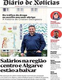 capa Diário de Notícias de 7 novembro 2019