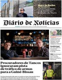capa Diário de Notícias de 8 novembro 2019