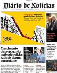 capa Diário de Notícias de 9 novembro 2019