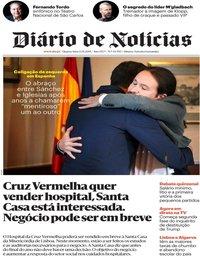 capa Diário de Notícias de 13 novembro 2019