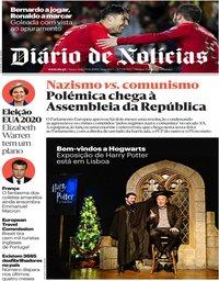 capa Diário de Notícias de 15 novembro 2019