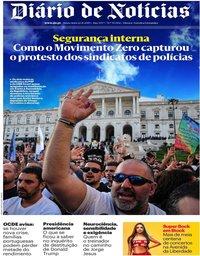 capa Diário de Notícias de 22 novembro 2019