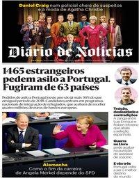 capa Diário de Notícias de 29 novembro 2019