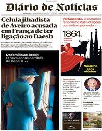 capa Diário de Notícias de 30 novembro 2019