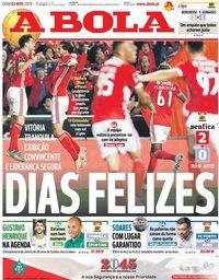 capa Jornal A Bola de 3 novembro 2019
