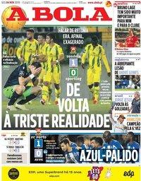 capa Jornal A Bola de 4 novembro 2019