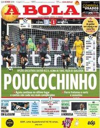capa Jornal A Bola de 6 novembro 2019