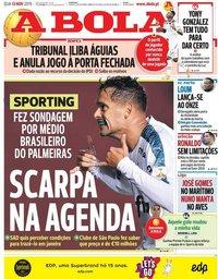 capa Jornal A Bola de 13 novembro 2019